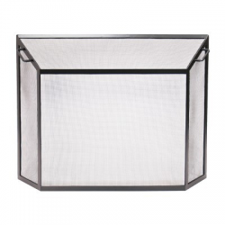 Extra Large Contemporary Spark Guard Fire Screen