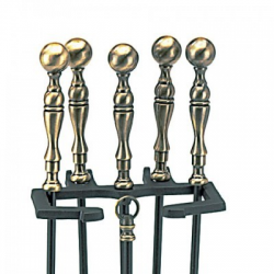 5-Piece Ball Handle Fireplace Tool Set