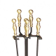Antique Brass Plated Fireplace Tool Set