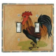 Rooster Double Toggle Switch Plate