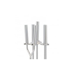 Brushed Steel 4-Piece Fireplace Tool Set