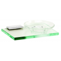 Polished Chrome Glass Soap Dish