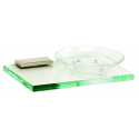 Polished Nickel Glass Soap Dish