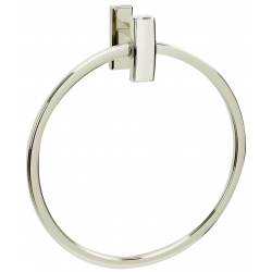 Polished Nickel Towel Ring 7""