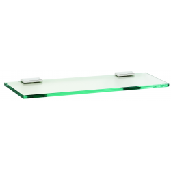"Polished Chrome 18"" Glass Shelf"