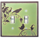 Green Songbird Double Toggle Switch Plate