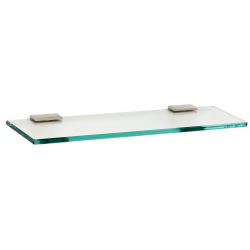 Satin Nickel Glass Shelf 18""