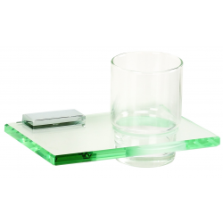 Polished Chrome Glass Tumbler Holder