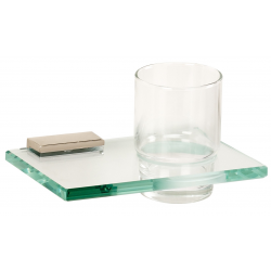 Polished Nickel Glass Tumbler Holder
