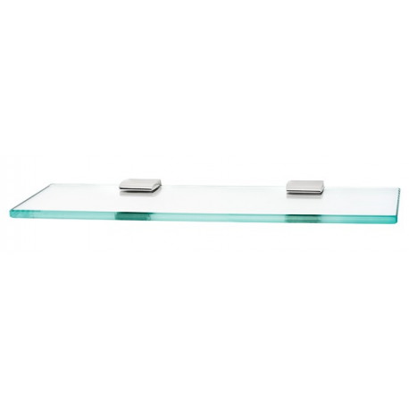 Polished Chrome Glass Shelf 18""