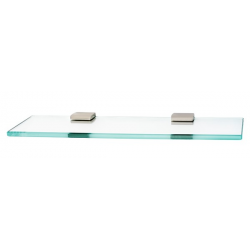 Satin Nickel Glass Shelf 24""
