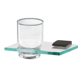 Bronze Glass Tumbler Holder