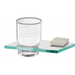 Satin Nickel Glass Tumbler Holder