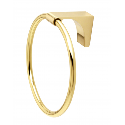Polished Brass Towel Ring
