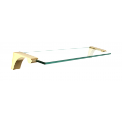 Polished Brass Glass Shelf 18""