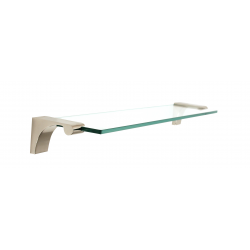 Polished Nickel Glass Shelf 18""