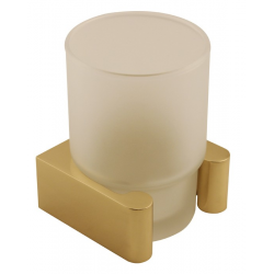 Polished Brass Tumbler Holder with Tumbler