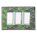 Tiny Tiles Triple Decora Switch Plate