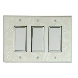 White Design Triple Decora Switch Plate