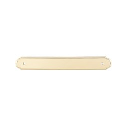 "Beaded Backplate 12"" Polished Brass"