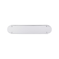 "Beaded Push Plate 15"" Polished Chrome"