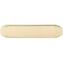 "Beaded Push Plate 15"" Polished Brass"