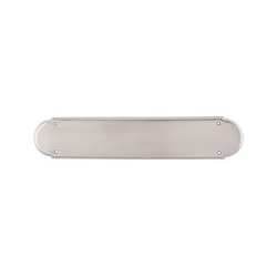 "Beaded Push Plate 15"" Satin Nickel"
