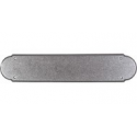 """Beaded Push Plate 15"""" Pewter"""