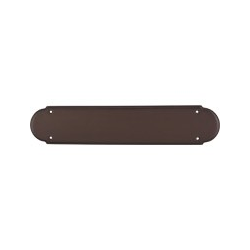 "Beaded Push Plate 15"" Oil Rubbed Bronze"