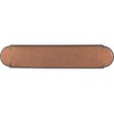 """Beaded Push Plate 15"""" Old English Copper"""