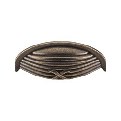 "Ribbon & Reed Cup Pull 3"" German Bronze"
