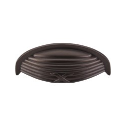 "Ribbon & Reed Cup Pull 3"" Oil Rubbed Bronze"