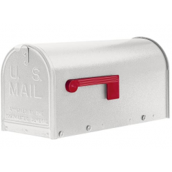 Quality Textured White Medium Size Mailbox