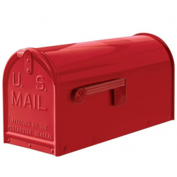 Quality Red Medium Size Mailbox