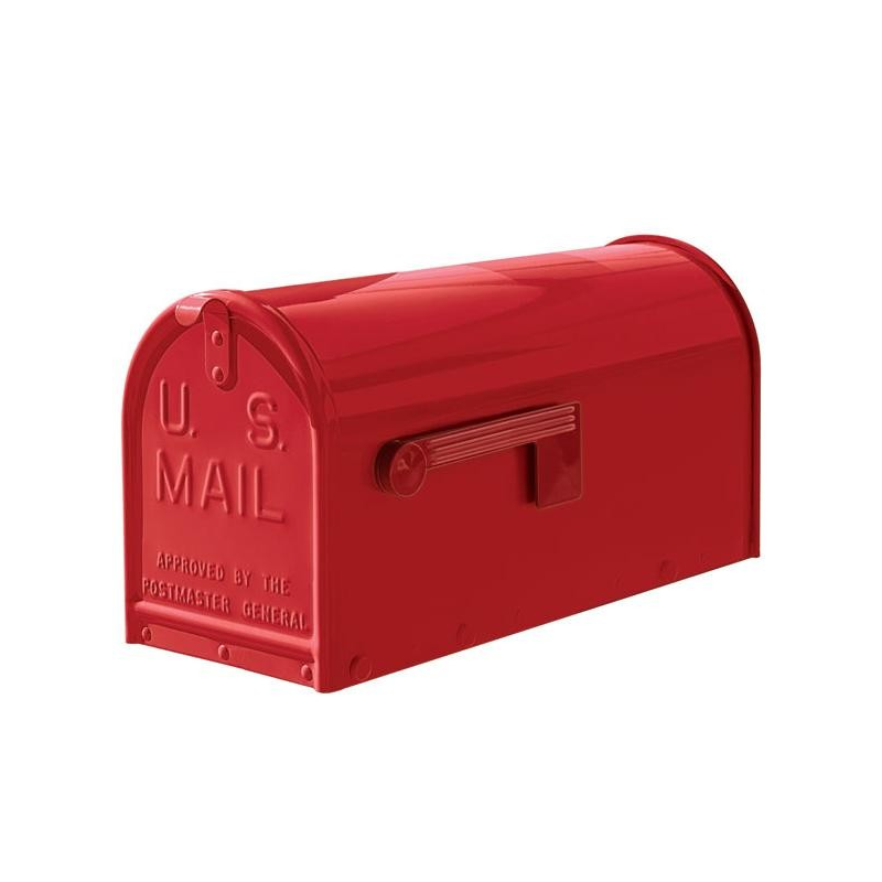 Red Quality Metal Mailbox Medium Size Powder Coated Janzer