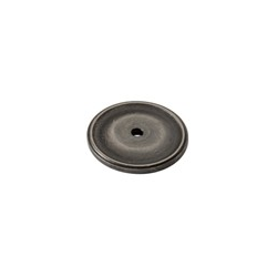 Weathered Antique Nickel Circle Back Plate
