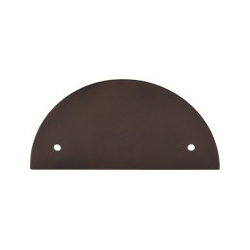 """Half Circle Pull Backplate 3.5"""" Oil Rubbed Bronze"""