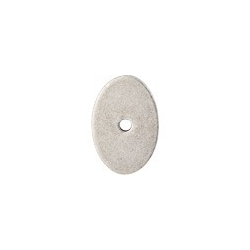 """Oval Backplate 1 1/4"""" Pewter Antique"""