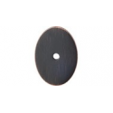"Oval Backplate 1.75"" Large Tuscan Bronze"