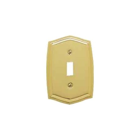 Polished Brass Colonial Switch Plate Single Toggle