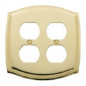 Polished Brass Switch Plate Double Outlet