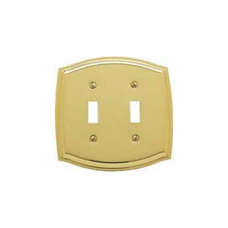 Polished Brass Switch Plate Double Toggle