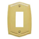 Polished Brass Switch Plate Single GFI