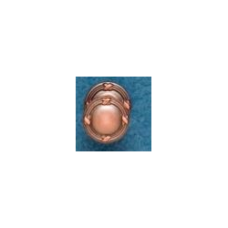 Ribbon & Reed Knob - Distressed Copper with Optional Back plate
