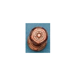 Ornate Ribbon & Reed Knob -Distressed Copper - Knob only - Large