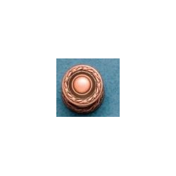 Decorative Edged Knob - Distressed Copper  - Knob Only - Large