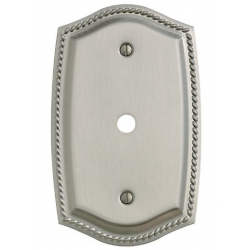 Satin Nickel Roped Cable Plate