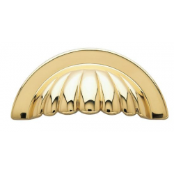 Polished Brass Melon Cup Pull