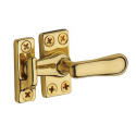 Small Casement Fastener in Polished Brass