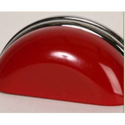Red Metal & Polished Chrome Cup Pull